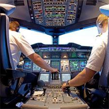 Flight Crew in Simulator
