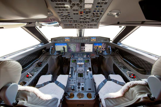 Gulstream G650ER Flightdeck