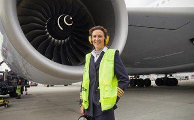 Woman Airline Pilot