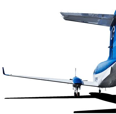 Wheels Up King Air Rear View